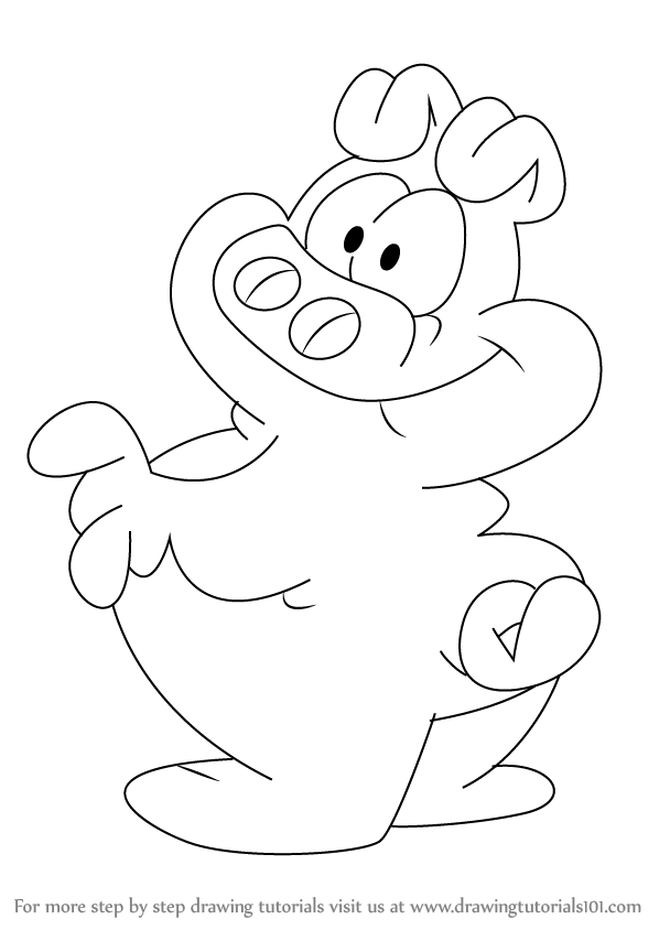 Learn How to Draw Orson Pig from