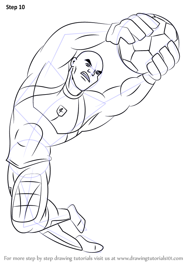 Learn How To Draw Big Bo From Supa Strikas Supa Strikas
