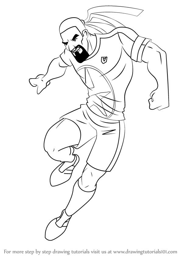 Learn how to draw dancing rasta from supa strikas supa for Rasta coloring pages