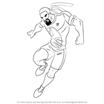 How to Draw Dancing Rasta from Supa Strikas