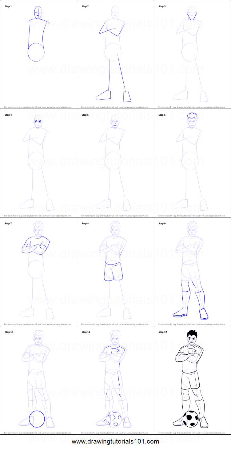 How to Draw Shakes from Supa Strikas printable step by ...