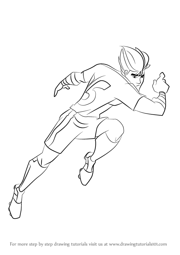 Step By Step How To Draw Twisting Tiger From Supa Strikas