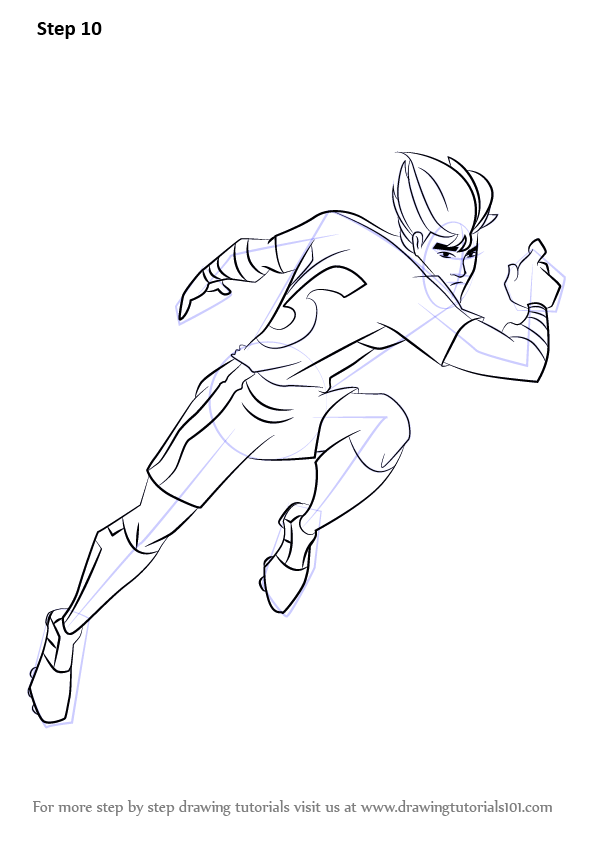 Learn How To Draw Twisting Tiger From Supa Strikas Supa