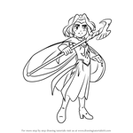 How to Draw Jadina from The Legendaries