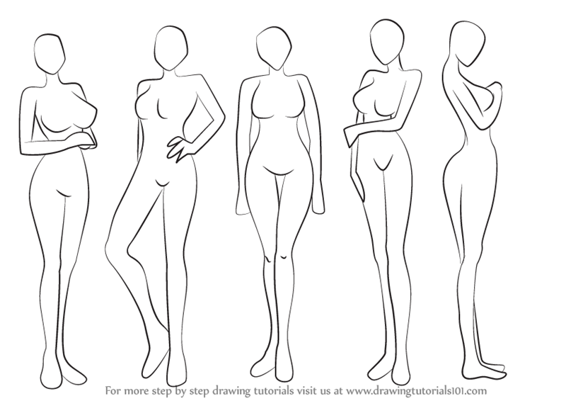 learn how to draw anime body female body step by step drawing