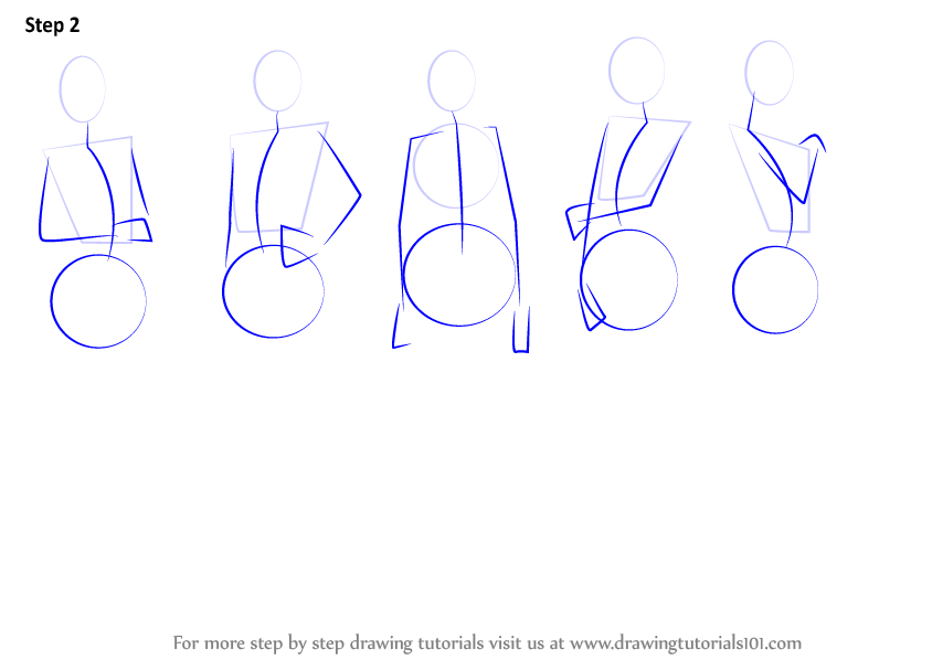 learn how to draw anime body female body step by step