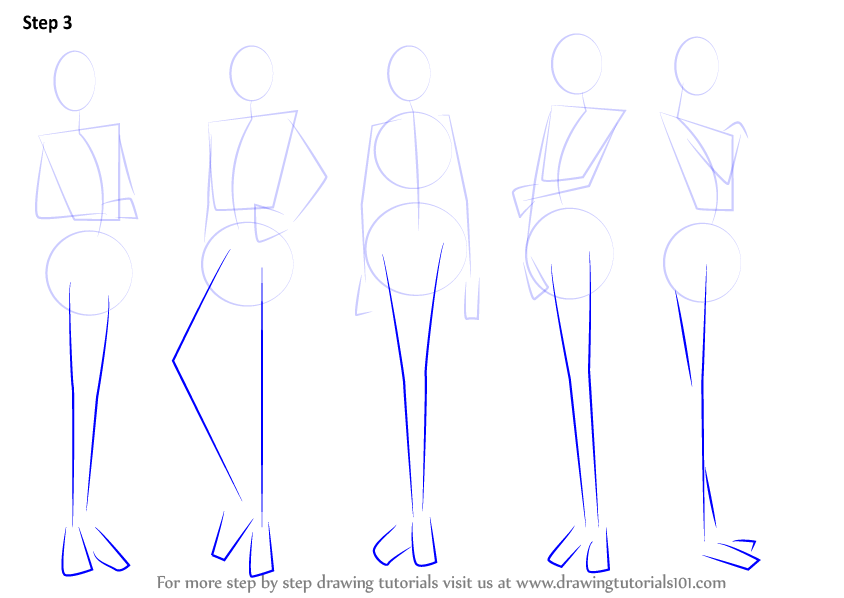 Learn How To Draw Anime Body - Female (Body) Step By Step  Drawing Tutorials