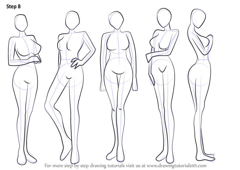 Learn How to Draw Anime Body - Female (Body) Step by Step ...