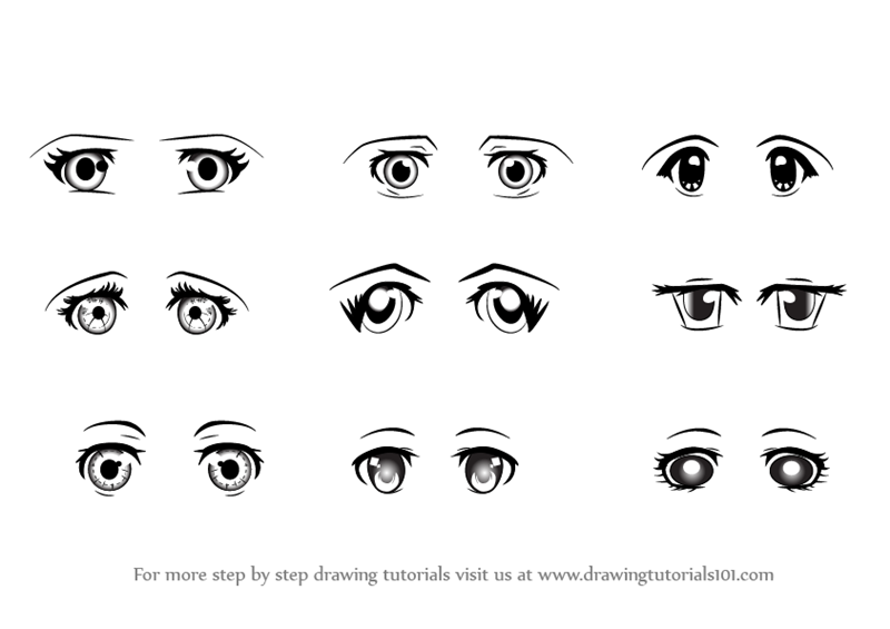 Learn How To Draw Anime Eyes Female Eyes Step By Step Drawing