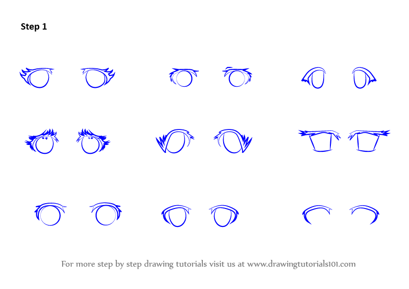 Learn How To Draw Anime Eyes Female Eyes Step By Step