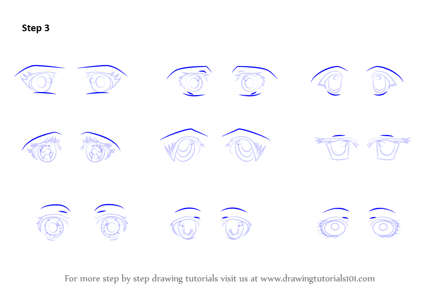 Learn How to Draw Anime Eyes - Female (Eyes) Step by Step ...