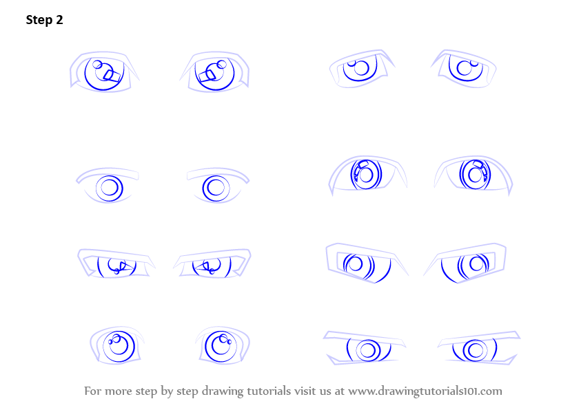 pictures of how to draw male anime eyes step by step