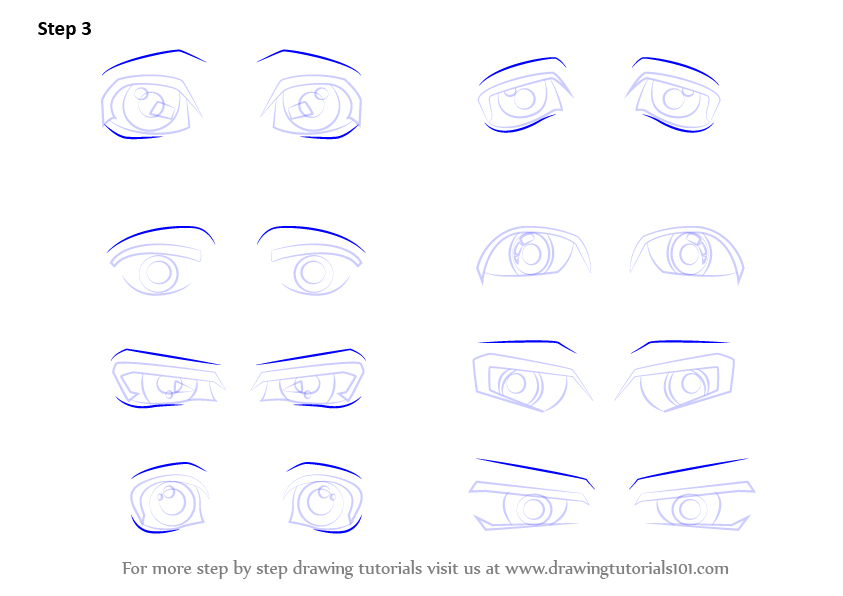 Learn How to Draw Anime Eyes - Male (Eyes) Step by Step ...