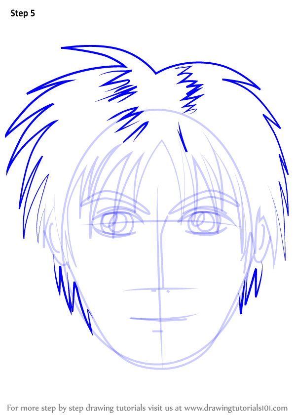 Learn How To Draw Anime Boy Face Face Step By Step Drawing Tutorials