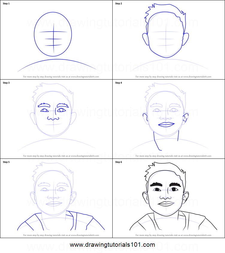 how to draw beast boy face step by step