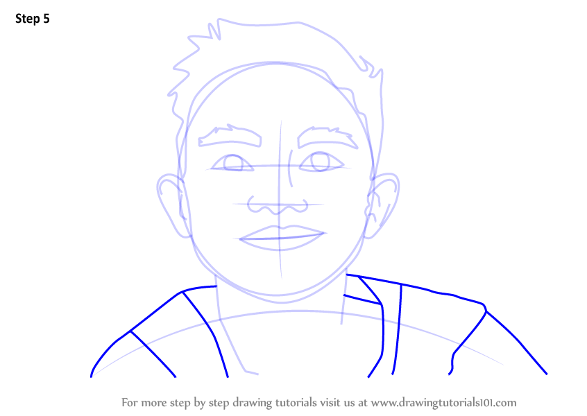 Learn How to Draw a Boy Face (Face) Step by Step : Drawing ...
