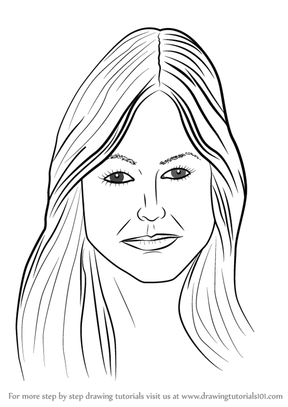Learn How to Draw Female Face with Hair (Face) Step by Step : Drawing Tutorials