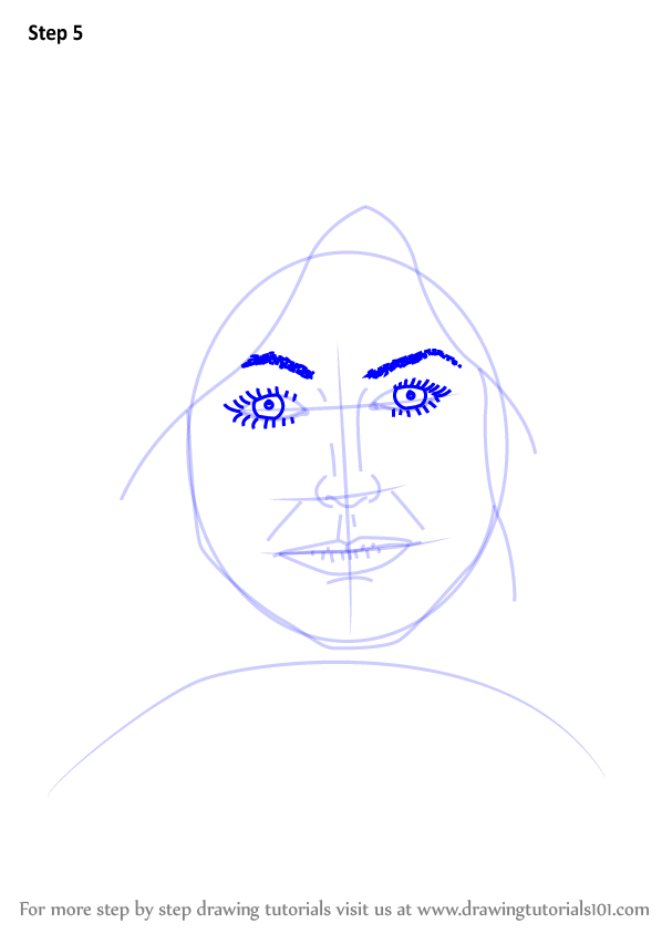 Learn How To Draw Female Face With Hair Face Step By