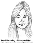 How to Draw Female Face with Hair