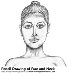 How to Draw Female Face with Neck