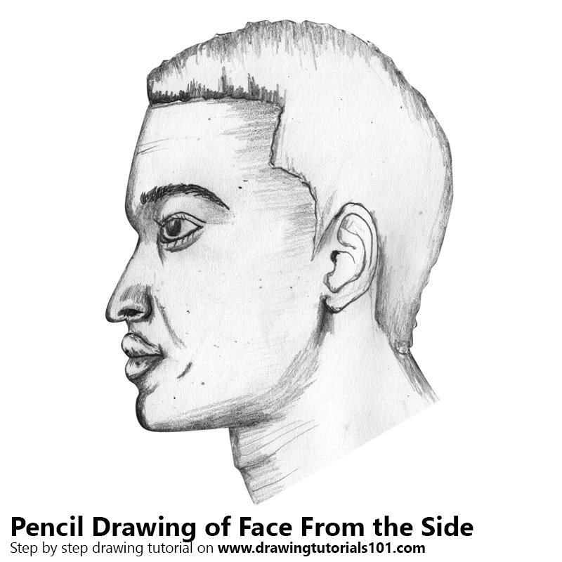face from the side pencil drawing how to sketch face from the side