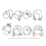 How to Draw Anime Hair - Female