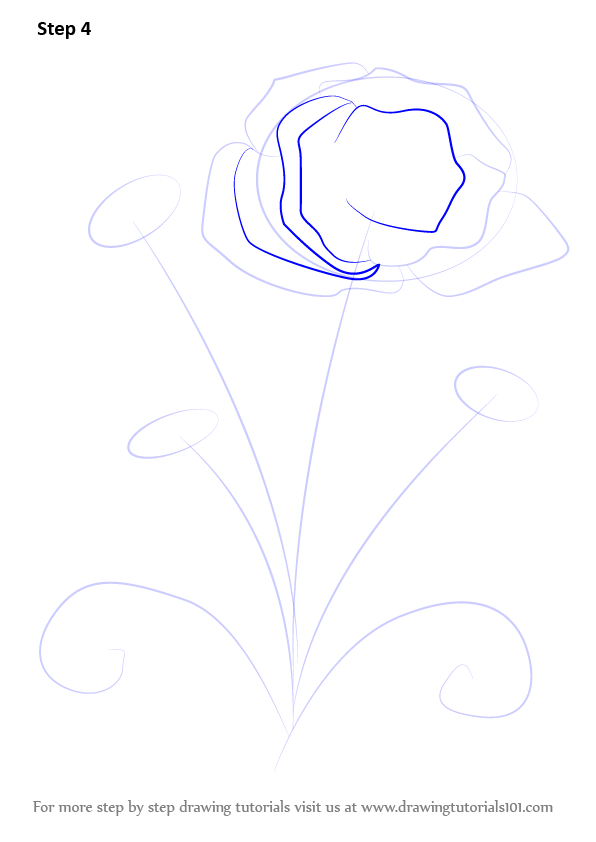 how to draw a three petal flower