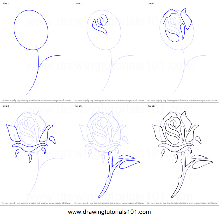 How to draw a rose tattoo printable step by step drawing sheet how to draw a rose tattoo printable step by step drawing sheet drawingtutorials101 ccuart Image collections