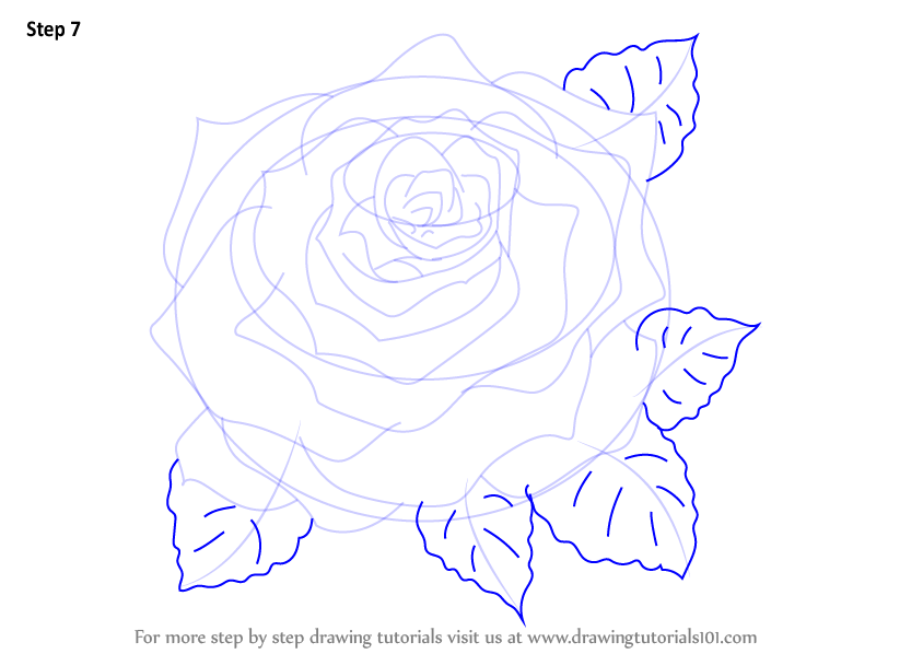how to make a rose step by step