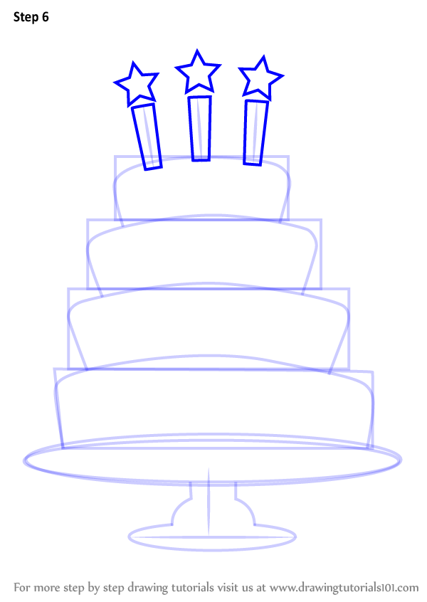 How To Draw A Birthday Cake Step By Step Birthday Cake