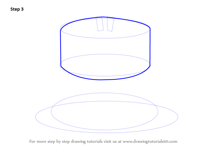 How To Draw Cake Images : Learn How to Draw a Birthday Cake (Cakes) Step by Step ...