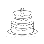 Learn How to Draw a Birthday Cake Cakes Step by Step Drawing