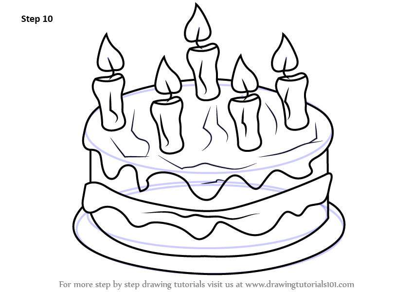 How To Draw A Cake Step By Step For Kids