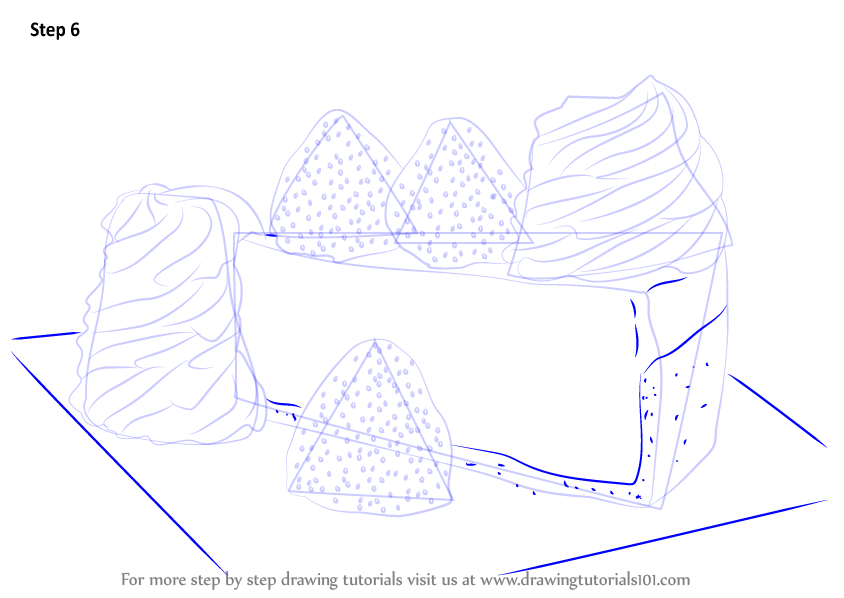 Learn how to draw a cheese cake cakes step by step for How to draw cheese step by step