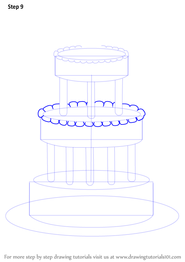 step by step wedding cake step by step how to draw a wedding cake 20527