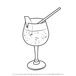 How to Draw a Cocktail Glass