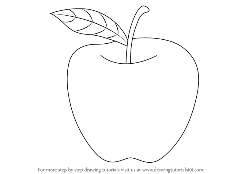 Learn How to Draw an Apple for Kids (Fruits) Step by Step : Drawing ...