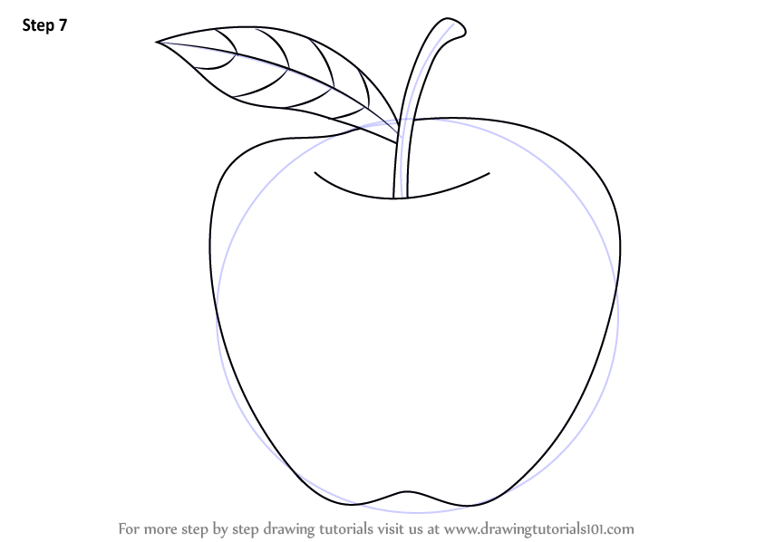 Learn How To Draw An Apple For Kids Fruits Step By Step Drawing