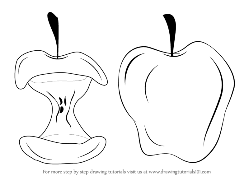 Apple Fruit Images For Drawing