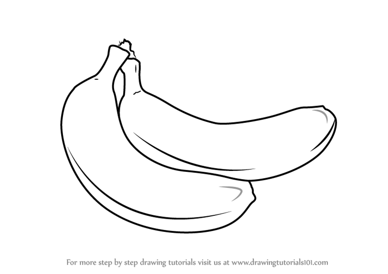 How To Draw A Banana Pair