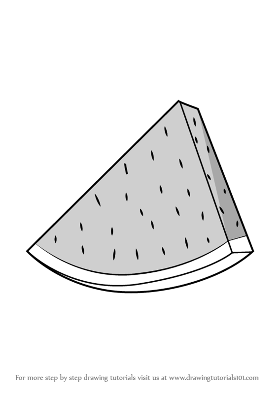 Learn How To Draw Watermelon Slice Fruits Step By Step Drawing