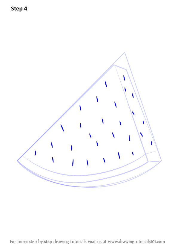 Learn How to Draw Watermelon Slice (Fruits) Step by Step ...