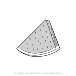 How to Draw Watermelon Slice