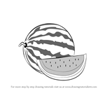 How to Draw Watermelon with Slice