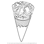 How to Draw Chocolate Ice Cream Cone