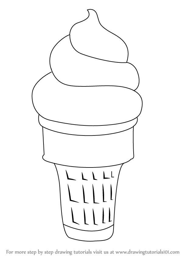 Learn How To Draw Ice Cream Cone Ice Creams Step By Step Drawing
