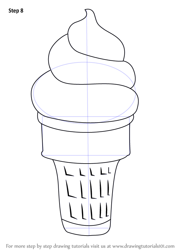 Learn How To Draw Ice Cream Cone Ice Creams Step By Step
