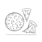 How to Draw Pizza and Slices of Pizza