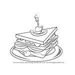 How to Draw a Club Sandwich