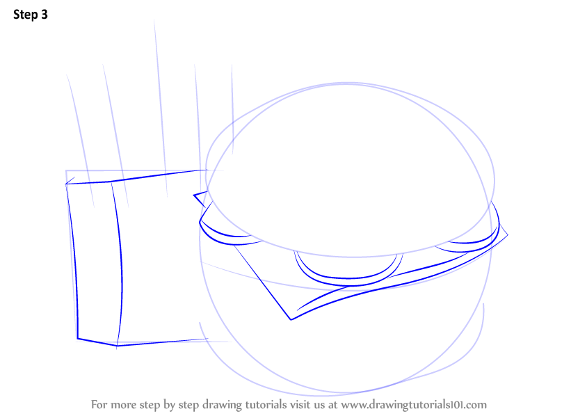 step by step how to draw hamburger and fries